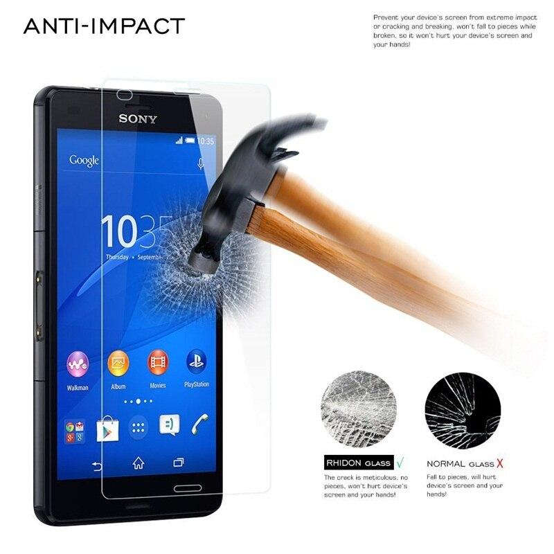 Закаленное Стекло Плёнки для Sony Xperia z1 z2 высокий прозрачный Экран протектор для Sony Xperia T3 C4 E3 E4 m2 m4 M5 Z5 мини Премиум