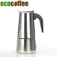 Freeshipping Stove Top Espresso Coffee Maker 2 4 6 Cups Counted Heat Resistant Handle Home Office