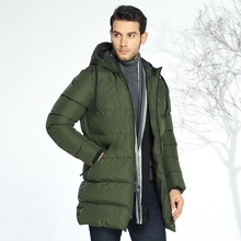 2018 Men's winter long cotton padded jacket, thickened, heat resistant, cold resistant and windproof cotton jacket.L-5XL