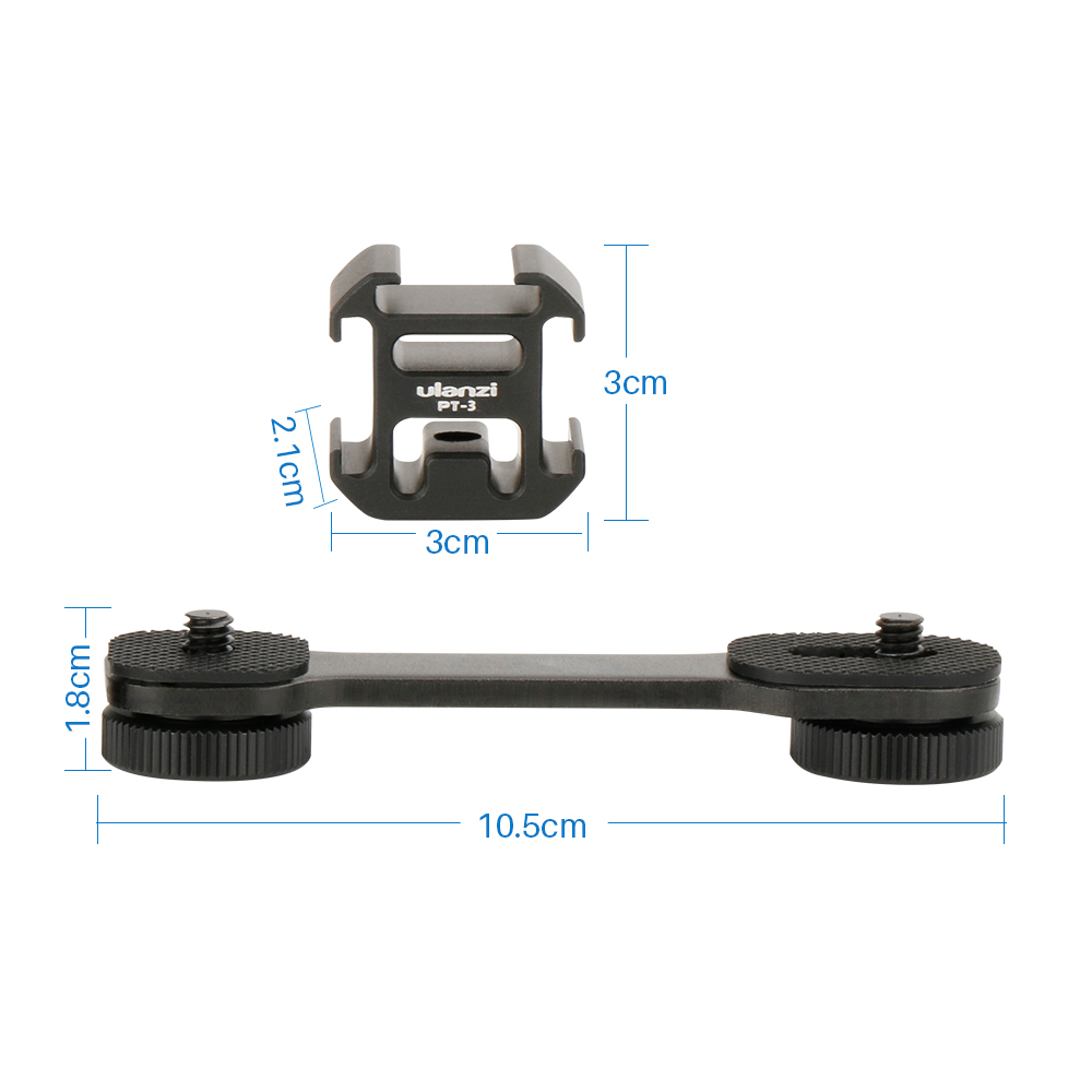 PT 3 Cold Shoe Bracket 1 4 quot Thread Microphone Extension Bar Zhiyun Smooth 4 Feiyu Vimble 2 DJI Osmo Pocket Gimbal Accessory in Gimbal Accessories from Consumer Electronics