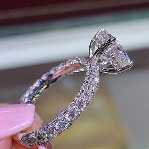 FUNIQUE Rings For Women Wedding Engagement Ring Jewelry
