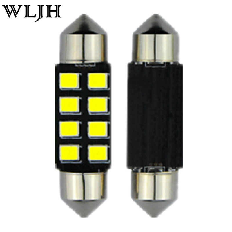 WLJH 8pcs T10 W5W Car Led Interior Light Package for Honda Accord Sedan Coupe 2003 2004 2005 2006 2007 2008 2009 2011 2012 White cawanerl car canbus led package kit 2835 smd white interior dome map cargo license plate light for audi tt tts 8j 2007 2012