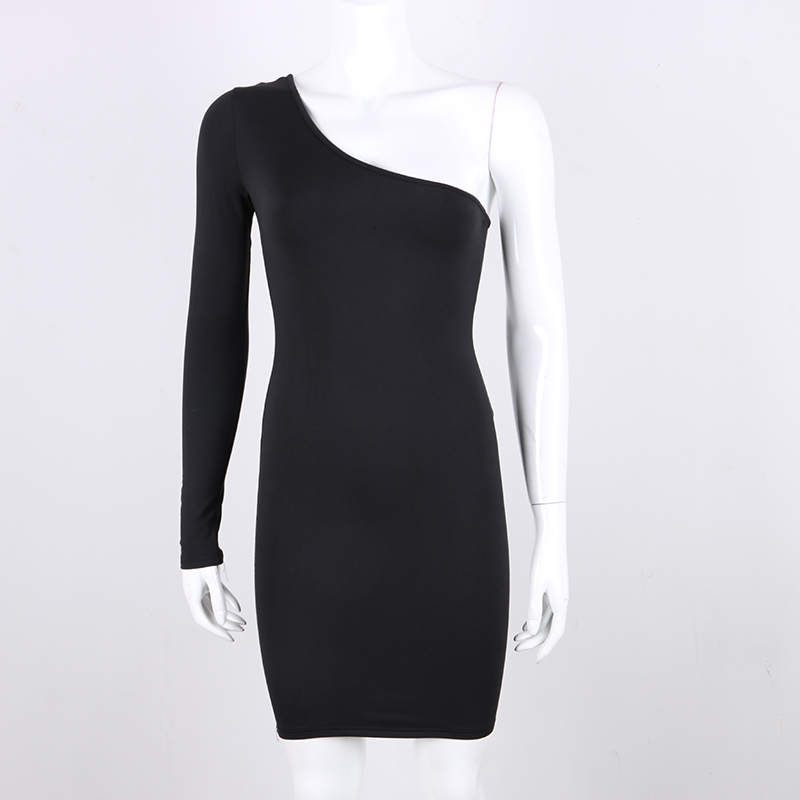 spring long sleeve elastic slim wrap mini dress red black white (3)