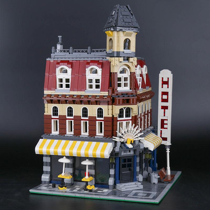 DHL 15002 2133Pcs Compatible With 10182 Cafe Corner Model Building Bricks Blocks 3D Kits Educational Kids