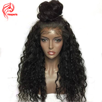 Hesperis 180 Density 360 Lace Frontal Wig Brazilian Human Hair Wig Bleached Knots Remy Hair Curly Lace Wigs With Baby Hair