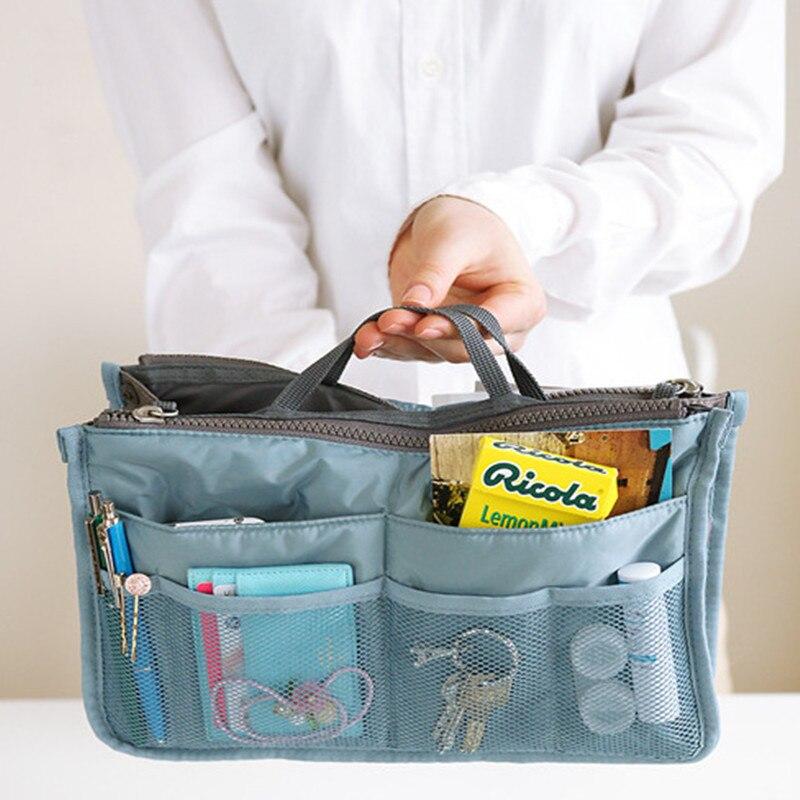 Portable Makeup Bag Canvas Travel Bags Make Up Organizer Bag Women Men Casual Multifunctional Cosmetic Toiletry Storage Handbag