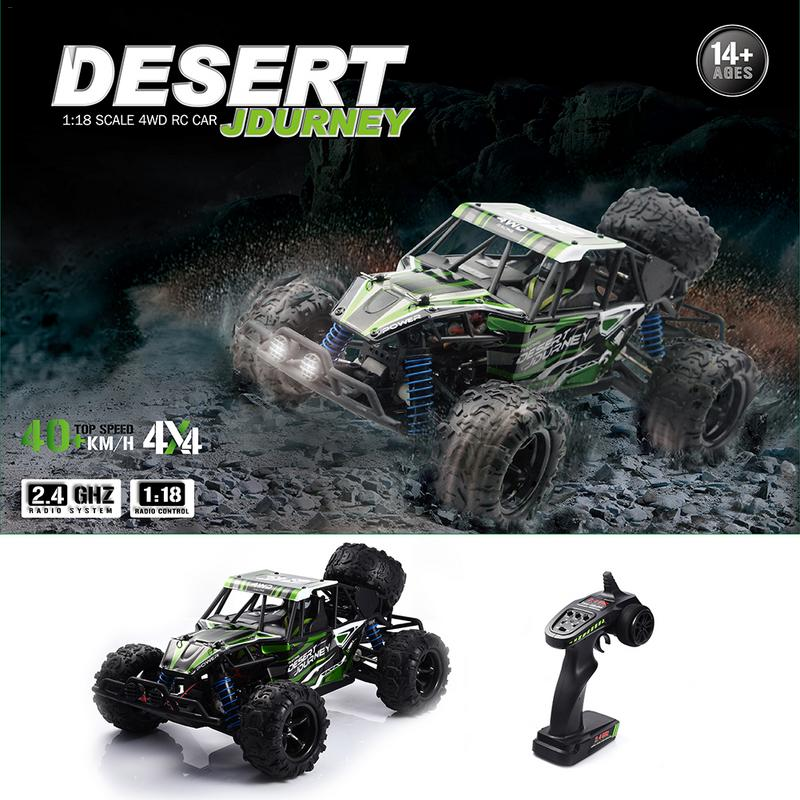 1/18 50KM / H Remote Control RC Rock Crawler Racing Truck 2.4G 4WD Off-road Vehicle Remote Control Toy For Children's Gifts