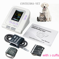 Vet Veterinary OLED digital Blood Pressure & Heart Beat Monitor NIBP CONTEC08A VET +3 cuffs