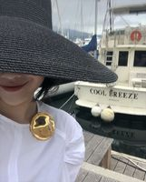 2019 New women gold round brooches big brand fashion jewelry