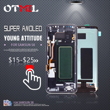 5.8 Burn Shadow Super Amoled For SAMSUNG Galaxy S8 LCD Touch Screen with Frame Digitizer Display G950F #1