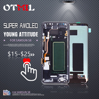 5.8Super Amoled For SAMSUNG Galaxy S8 LCD Touch Screen with Frame Digitizer G950F G950U LCD For SAMSUNG S8 Display #1