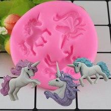 Mujiang Unicorn Silicone Mold Baby Birthday Fondant
