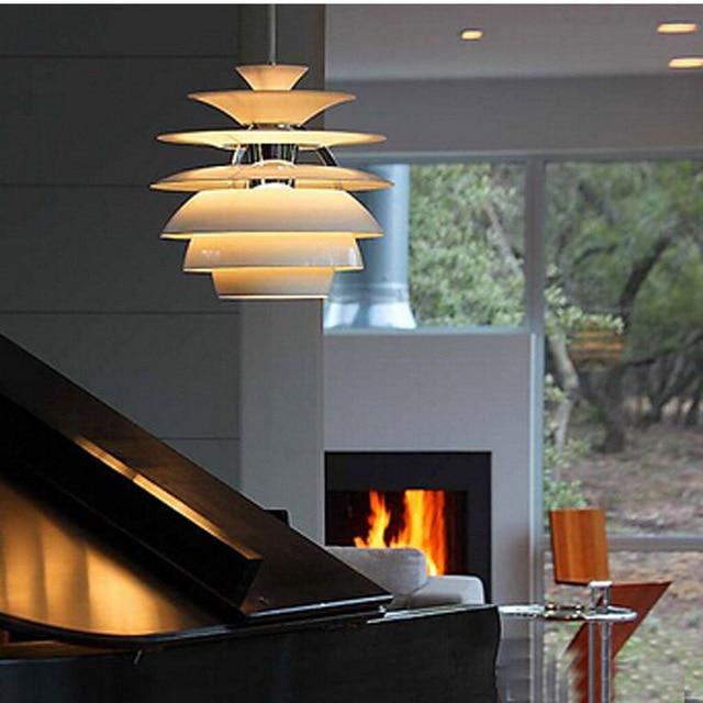 Ecolight Freies Verschiffen Moderne Ph Pendelleuchte Aluminium Weiß Malerei  Loft Wohnzimmer Hängeleuchte Designer Beleuchtung