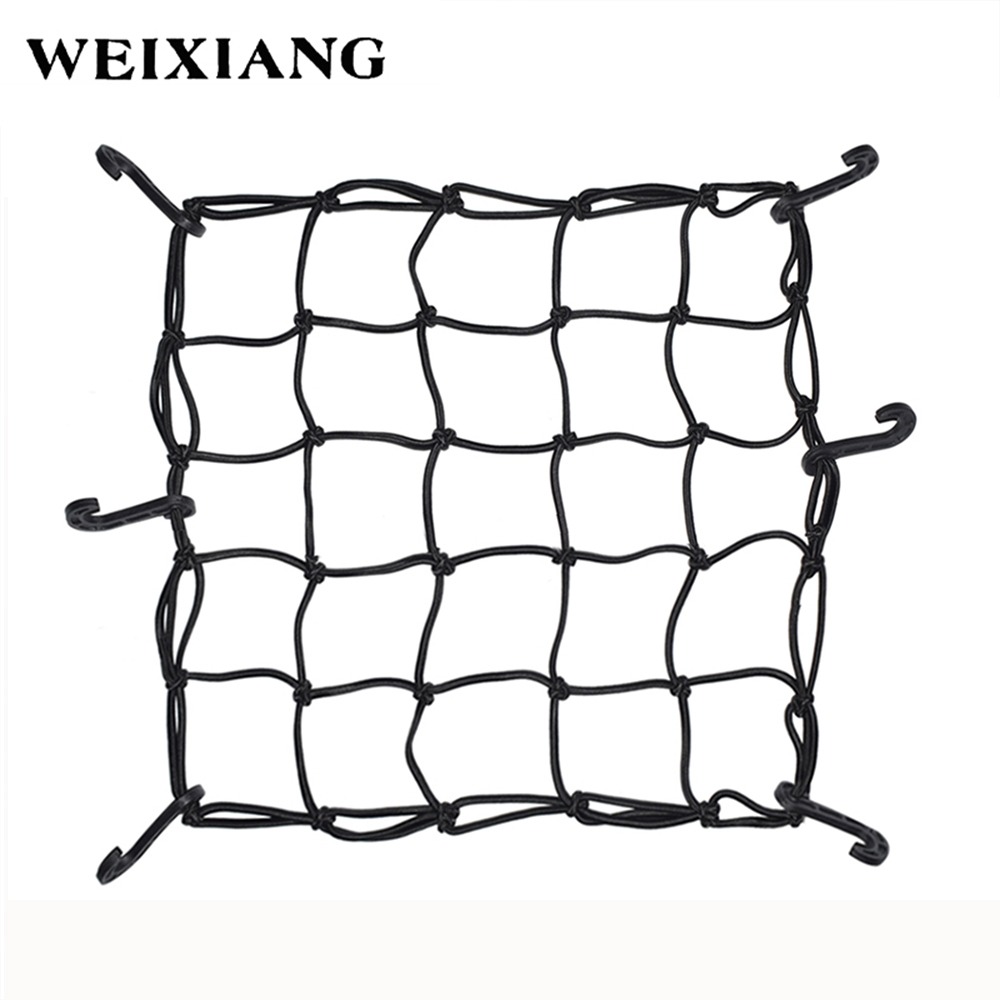 40x40cm Motorcycle Oil Tanker Cargo Net Hooks Elastic Mesh Straps Motorcross Helmet Luggage Bags Holder Mesh Cover Scooter Bag elastic baggage band helmet holder for motorcycle yellow