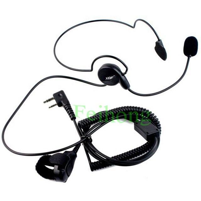 2 шт./лот 2 Pin Динамик Микрофон Пальцем PTT Гарнитура для Kenwood Baofeng УФ-5R 777 888 s WOUXUN HYT PUXING двухстороннее радио walkie talkie