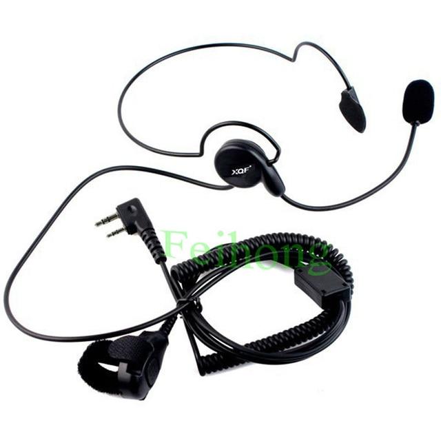2pcs/lot 2 Pin Earpiece Mic Finger PTT Headset for Kenwood Baofeng UV-5R 777 888s WOUXUN HYT PUXING two way radio walkie talkie