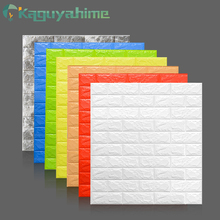 Kaguyahime 3D Wallpaper DIY Marble Sticker Waterproof Stickers Wall Papers Home decor Kids Room Self-Adhesive Brick