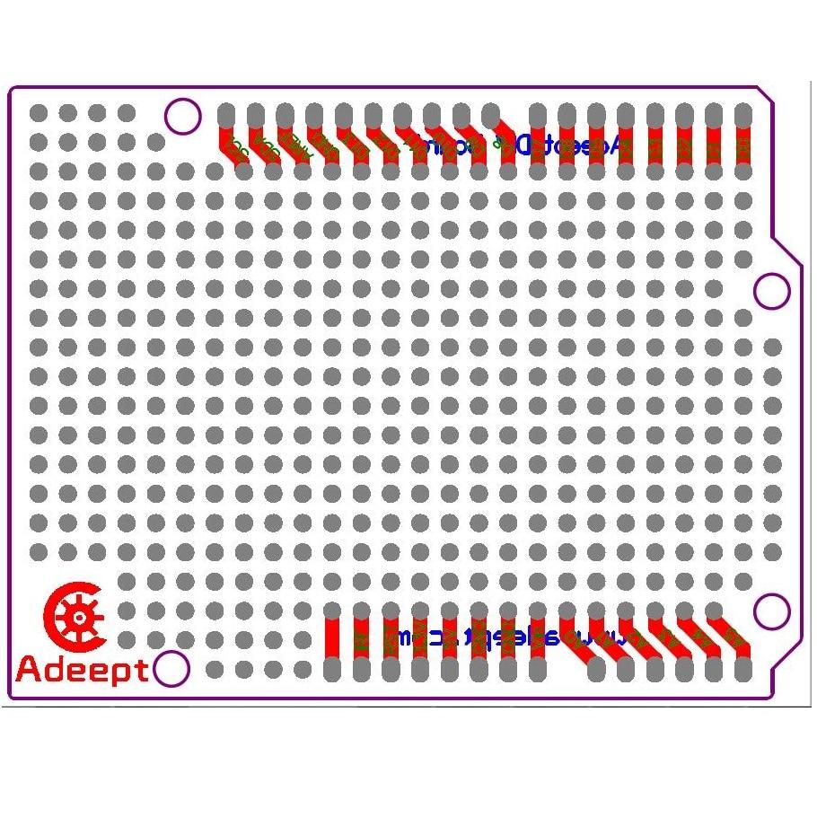 Adeept 10x Prototyp PCB für Arduino UNO R3 Shield Board DIY - Intelligente Elektronik - Foto 2