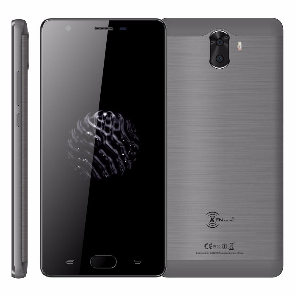 KenXinDa S6 Android 7.0 Mobile Phone 5.0 HD MTK6737 Quad Core 2GB RAM 16GB ROM 13MP+8MP 3500mAh Battery 4G LTE Unlock Cellphone