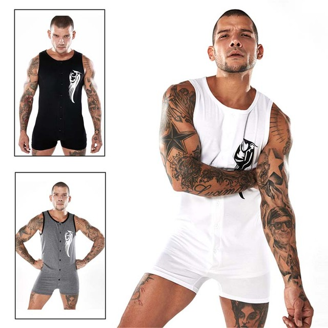 Men's Overalls Rompers Sleeveless Jumpsuit Black White Rompers Playsuits Slim Fit Casual Male Set Men Overalls 2018 Summer XXL