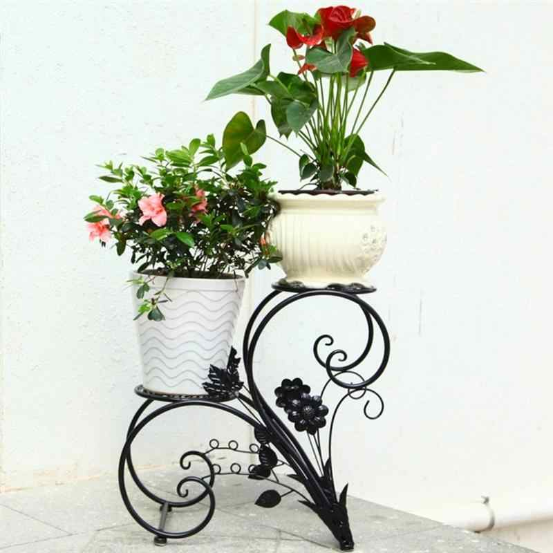Metal Plant Stand Indoor Outdoor Plant Corner Shelf Flower Pot Plant Holder Planters Display Rack Home Garden Decoration