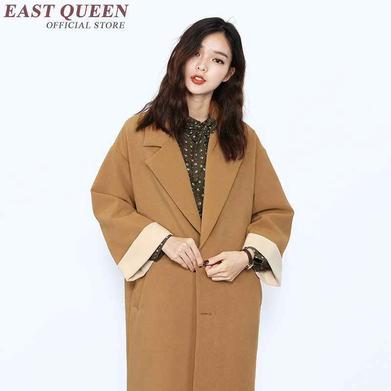 Gabardina para mujer abrigo mujer invierno 2018 nueva moda abrigo de invierno para mujer trenchcoat AA3028