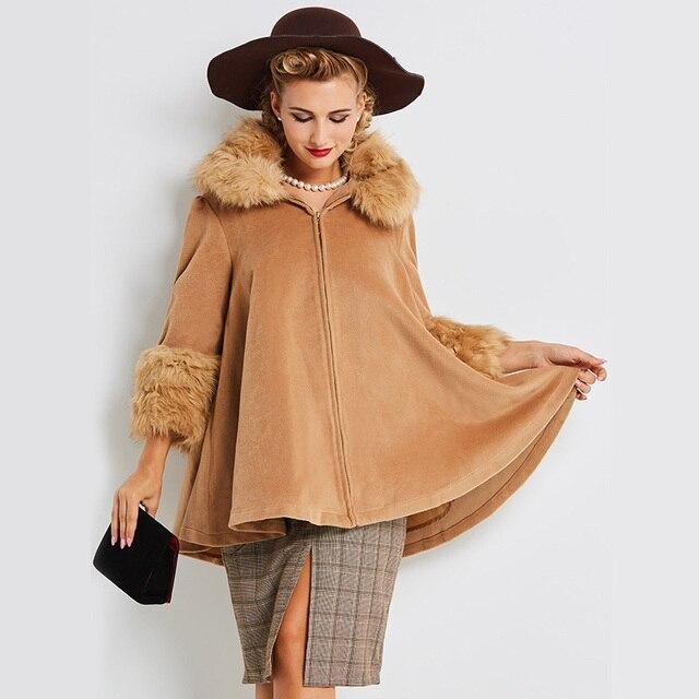 Manteau trois quart laine femme
