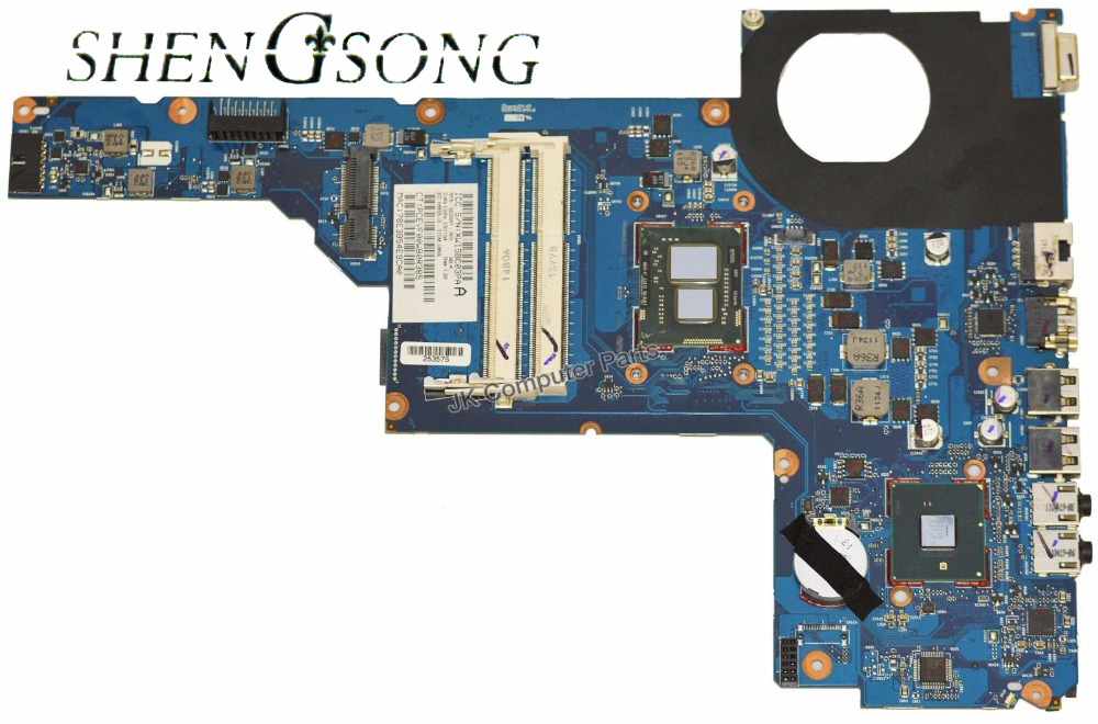 653087-001 Free Shipping Laptop motherboard for HP G6-B G6-1000 with HM55 i3-370M 100% test OK free shipping orginal 630973 001 for hp for envy17 laptop motherboard daosp9mb8do hm67 ddr3 ait 100