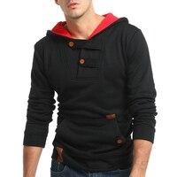 2017 Fashion Hoodies Men Sudaderas Hombre Hip Hop Mens Brand Solid Color Hooded Hoodie Sweatshirt Slim