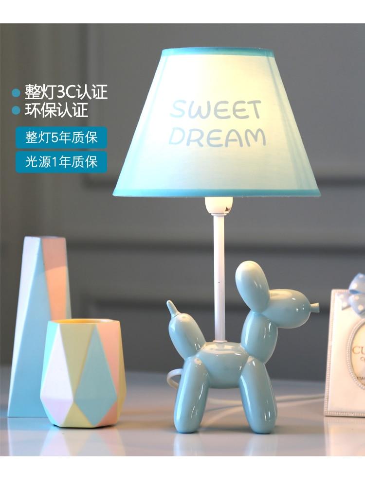 Nordic lovely balloon desk lamp boy girl bedroom children's room light LED adjustable light cartoon dog desk lamp