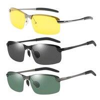 자동 선글라스 남자 편광판 안경 편광 안경 자동차 운전자 야간 투시경 고글 운전 클래식 선글라스 Accessiores