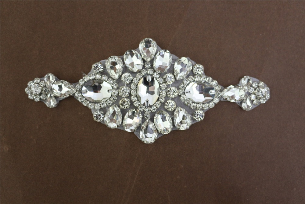 Wedding Gowns With Bling: 2014 New Bling Rhinestone Beaded Bridal Trims Lace For