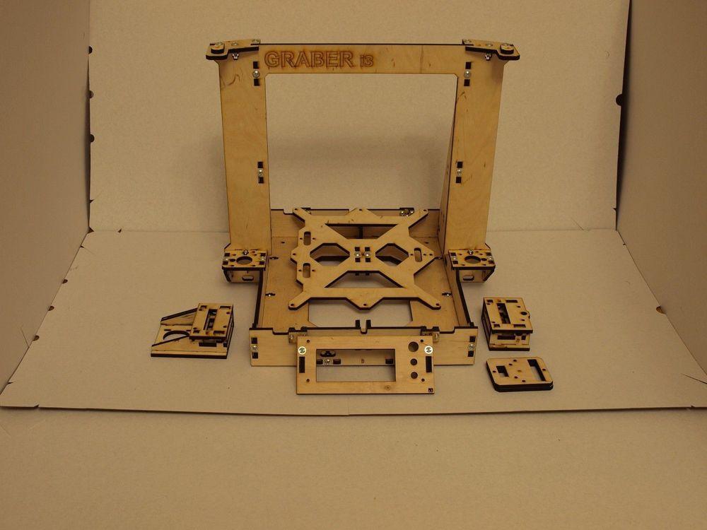 Horizon Elephant  3D Printer Reprap Mendel Graber I3 Frame Laser Cut 6mm PlyWood + Screws kit/set 6mm thickness horizon elephant reprap prusa mendel i3 smooth rod screw rod screw kit for diy 3d printer
