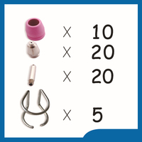 P60 WSD 60P LCH Free Shipping Plasma Cutter Cutting Torch Consumables KIT Plasma Nozzles TIPS 1