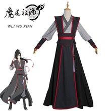 Eraspooky Mo Dao Zu Shi Косплей Wei Wuxian молодой гроссмейстер демонического культивирования костюм для мужчин аниме Wei wuxian парик обувь флейта