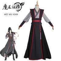Eraspooky Mo Dao Zu Shi Cosplay Wei Wuxian Junge Großmeister von Dämonische Anbau Kostüm Männer Anime Wei wuxian Perücke schuhe flöte