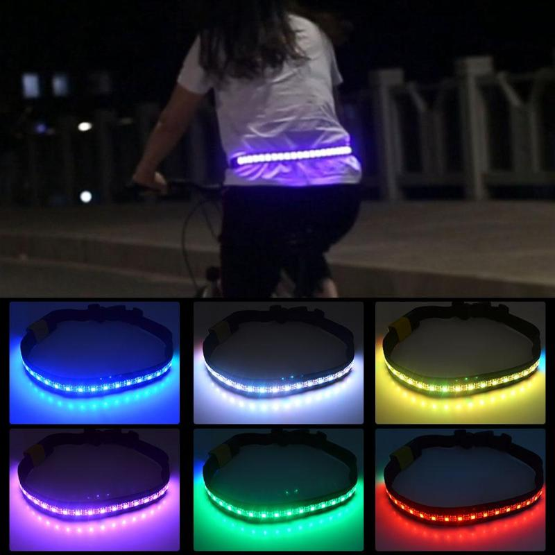 Apparel Accessories Led Flashing Waistband Safety Reflective Belt Waistband Bicycle