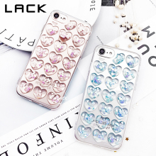 LACK Candy Color 3D Jelly Love Hearts Phone Case For iphone 7 Case Fashion Cute Clear Back Cover Cases For iphone7 7 Plus Funda