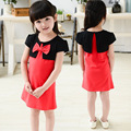 Новый 2016 принцесса ребенок платье девушка летняя одежда Cuhk дети детей девочку одежды летом