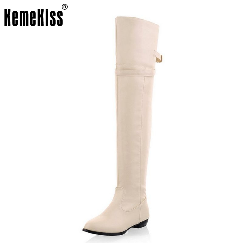 size 34-45 women flat over knee boots ladies fashion long snow boot warm winter brand botas footwear shoes P9460