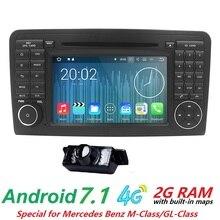 Android 7.1 HD видео WIFI GPS Navi Quad Core blotooth стерео OBD2 dvd-плеер автомобиля для Benz ML класса W164 ML300 ML350 ML450 ML500