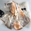 170x55cm 100%Real Silk Luxury Brand Women Winter Scarf Echarpe Foulard Femme Shawls Horse Printed Bandana Scarves Wraps Hijab S6