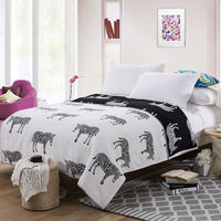 Zebra Pattern Summer Throw Towels Blankets 100 Cotton 150x200cm Air Condition Bedsheet Coverlets Sofa Bedding