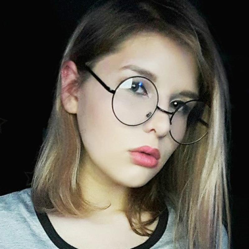 RBUDDY 2018 Retro runde gennemsigtig læsning optiske briller ramme falske computerbriller til kvinder mænd myopi briller ramme