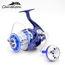 CAMEKOON Full Metal Saltwater Spinning Reel 35KG Carbon Fiber Drag Boat Fishing Reel with 12+1 BBs 5.5:1 Gear Ratio kastking kodiak saltwater spinning reel larger aluminum spool 18kg drag boat fishing reel with 11 ball bearings 5 2 1 gear ratio