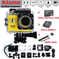 SJ4000 HD 1080 P 12MP перейти Водонепроницаемый pro Видеокамера Экстремальных Открытый Мини спорт DV Действий Камеры Дополнительный аккумулятор + монопод + 8 Г TF карты