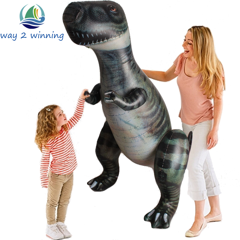 185cm Giant Inflatable Dinosaur Children Toy Tyrannosaurus Rex Halloween/Birthday Decorations Props Party Supply Favor Animals the dinosaur island jurassic infrared remote control electric super large tyrannosaurus rex model children s toy