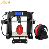 Free Shipping Factory High Quality Precision Reprap Prusa I3 DIY 3d Printer Kit With 8GB SD