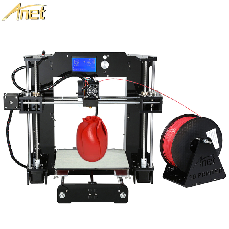 Anet A6/A8/Auto leveling A8 Cheap 3D Printers DIY Precision Reprap 3d Printer Kit DIY With Free Filament 0.4mm Extruder nozzle easy assemble anet a6 a8 impresora 3d printer kit auto leveling big size reprap i3 diy printers with hotbed filament sd card