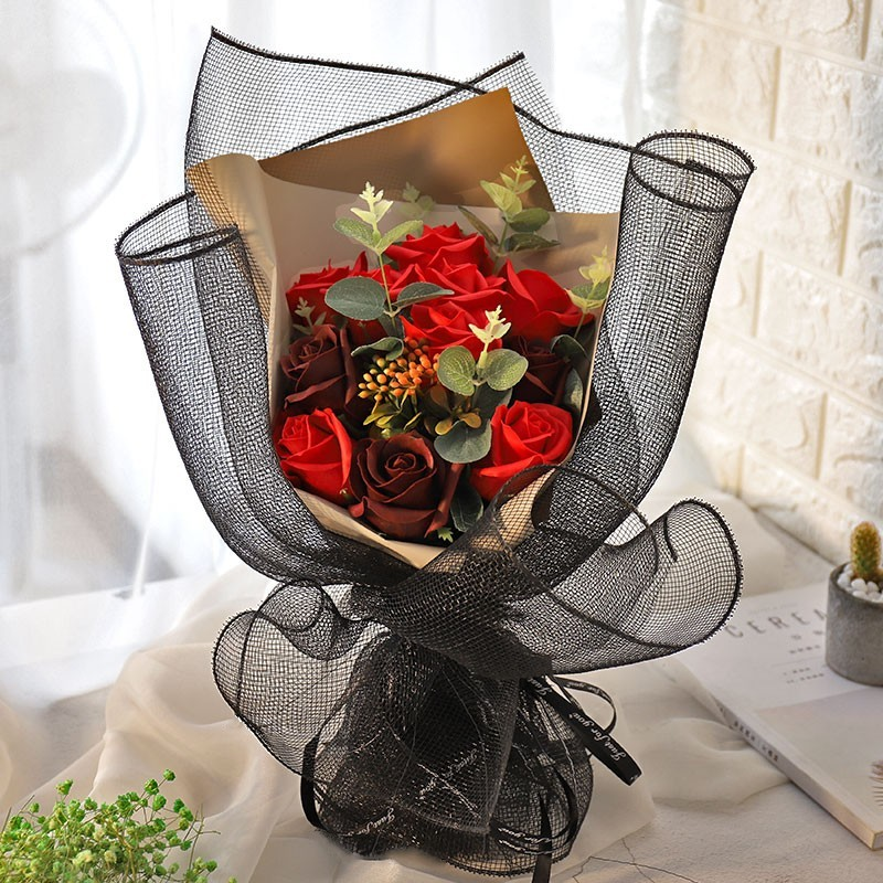 Soap Flower Gift Box Girlfriend Girlfriends Christmas Birthday Gift Bouquets of Roses Simulation Soap Creative Wedding